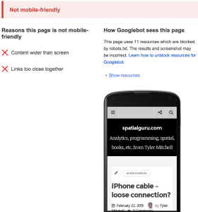 Google mobile check failure